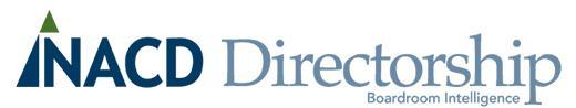 NACD Directorship